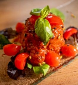 ristorante borgo nomplan ravascletto comeglians Tortino di melanzane
